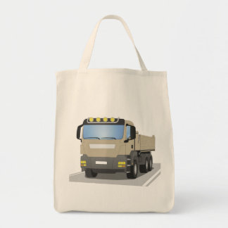 grey building sites truck tote bag