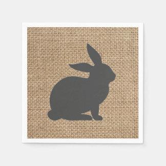 Grey Burlap Bunny // Napkins // Easter // Spring Paper Napkin