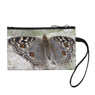 Grey Butterfly Colour Image - Key Coin Clutch