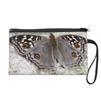 Grey Butterfly Colour Image - Wristlet