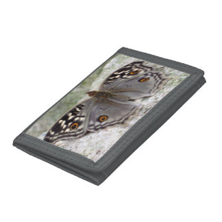 Grey Butterfly Image - Grey Nylon Wallet