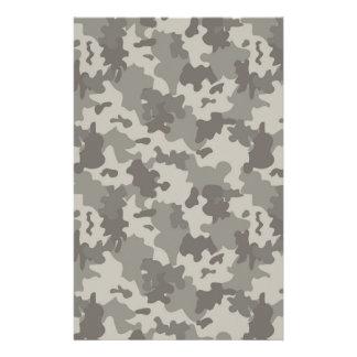 Grey Camouflage Stationery