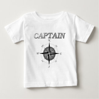 Grey Captain with Compass Rose Baby T-Shirt