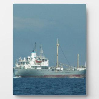 Grey Cargo Ship Plaque