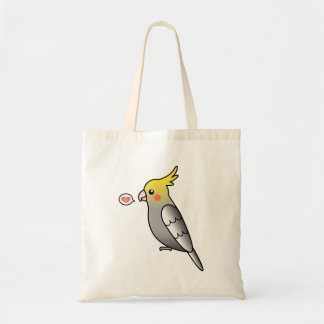 Grey Cartoon Cockatiel Parrot Bird Love