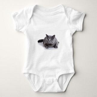 Grey Cat Baby Bodysuit