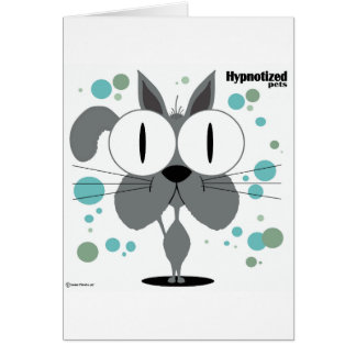 Grey Cat Card, Standard white envelopes included Greeting Card