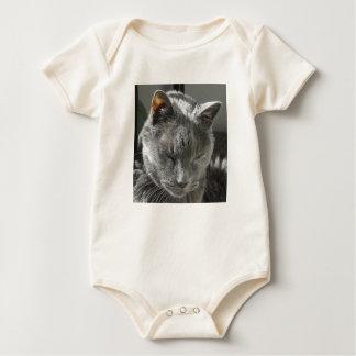 Grey Cat Infant Creeper Onsie