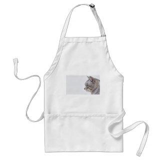 Grey cat standard apron