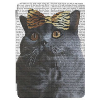 Grey Cat with Leopard Bow iPad Air Cover