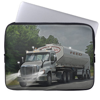 Grey Cattle Feed Cistern Truck for Truckers & Kids Laptop Sleeve