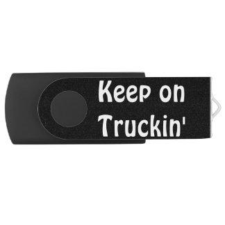 Grey Cattle Feed Cistern Truck for Truckers & Kids Swivel USB 2.0 Flash Drive