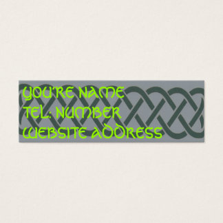 Grey Celtic knot on grey Mini Business Card