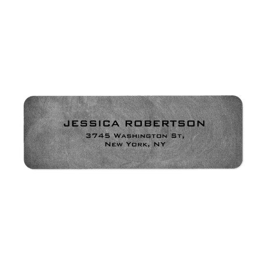 Grey Chalkboard Elegant Modern Trendy Minimalist Return Address Label