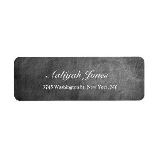 Grey Chalkboard Elegant Professional Creative Return Address Label
