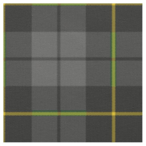 Grey charcoal black and yellow plaid pattern fabric