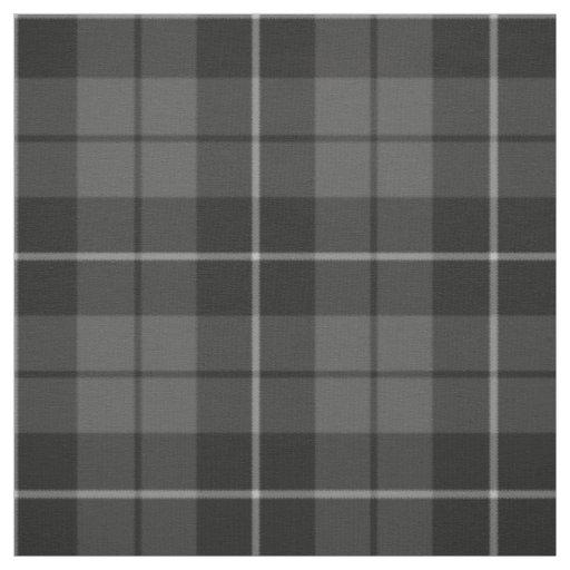 Grey charcoal black plaid pattern fabric