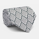 Grey Charcoal Moroccan #5DS Charcoal Name Monogram Tie