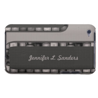 Grey Charcoal Tile Border iPod Touch Covers