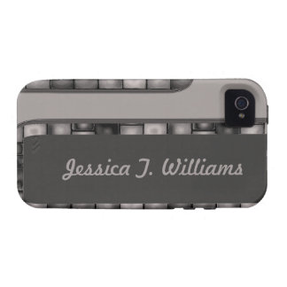 Grey Charcoal Tile Border iPhone 4/4S Cover