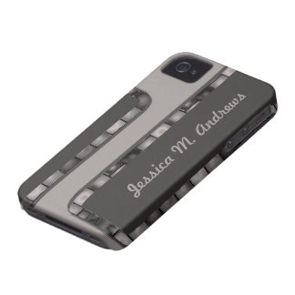 Grey Charcoal Tile Border iPhone 4 Covers