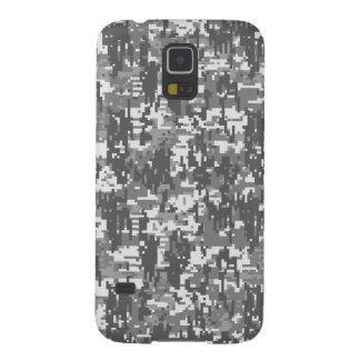 Grey Charcoal Urban Digital Camo Pattern Case For Galaxy S5