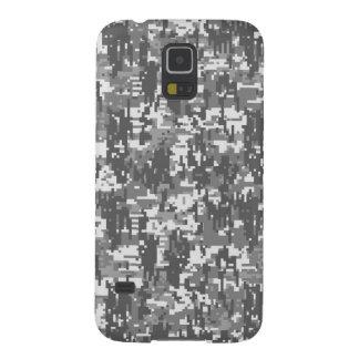 Grey Charcoal Urban Digital Camo Pattern Galaxy S5 Cases
