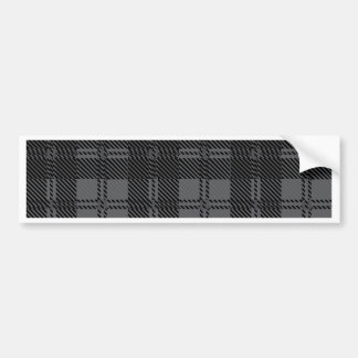 Grey Check Tartan Wool Material Bumper Sticker