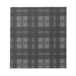 Grey Check Tartan Wool Material Notepad