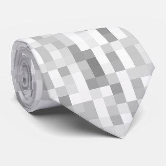 Grey Checkered Tie