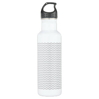 Grey Chevron 710 Ml Water Bottle