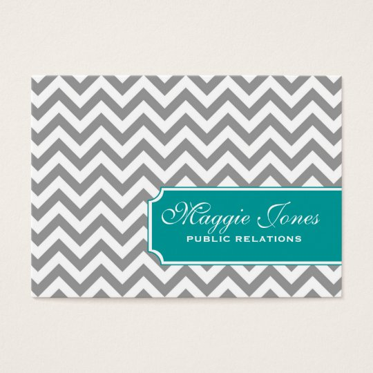 Grey Chevron Business Card