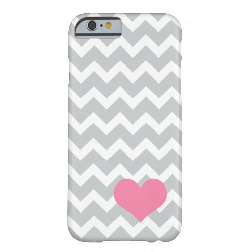 Grey chevron heart iPhone case