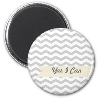 Grey Chevron Magnet