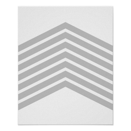 Grey Chevron Minimalist Art Wall Decor Print