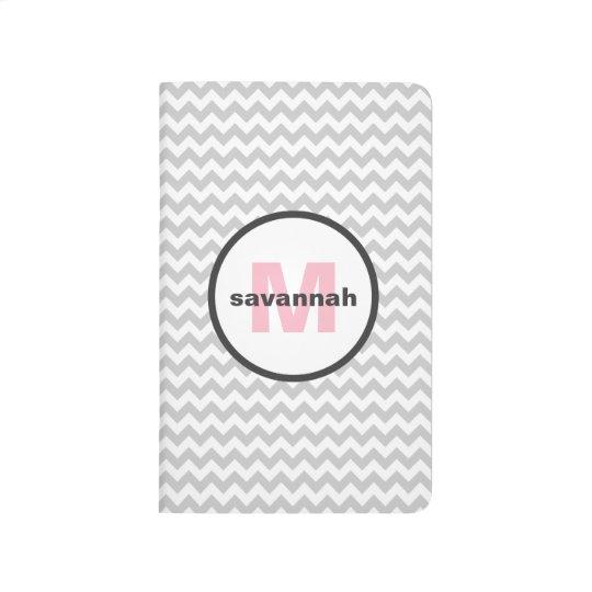 Grey Chevron Monogram Journal