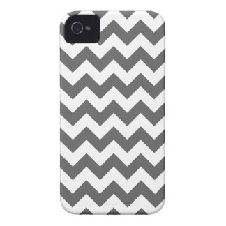 Grey Chevron Pattern iPhone 4 Case