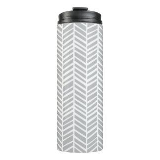 Grey Chevron Thermal Tumbler