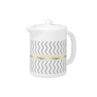 Grey Chevron with beige personalized label