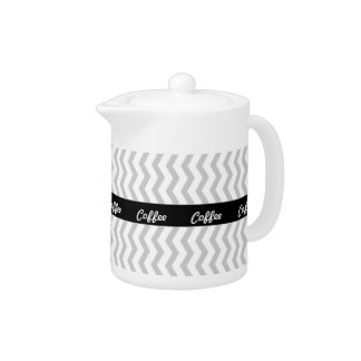 Grey Chevron with black personalized label