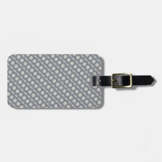 Grey Circle Pattern | Luggage Tag