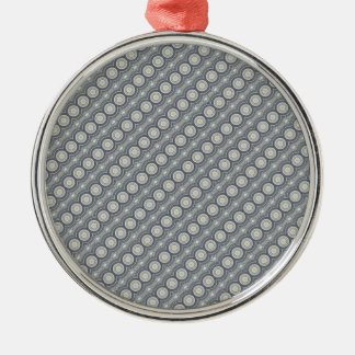 Grey Circle Pattern | Silver-Colored Round Decoration