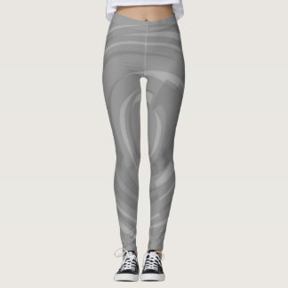 Grey Circles Leggings