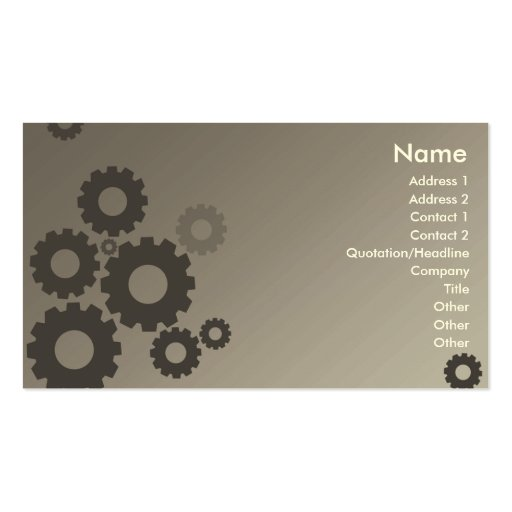 Grey Cogs - Business Business Card Template
