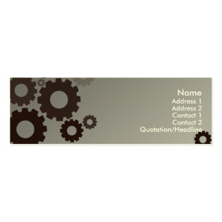 Grey Cogs - Skinny Pack Of Skinny Business Cards