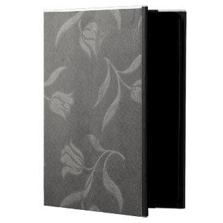 Grey Color Decent Floral Pattern ipad Case