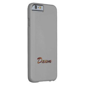 Grey Color iPhone 6 case for Dawn Barely There iPhone 6 Case