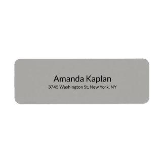 Grey Color Modern Plain Minimalist Professional