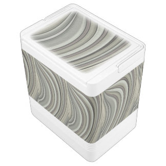 Grey colored line pattern igloo cool box