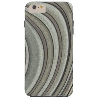 Grey colored line pattern tough iPhone 6 plus case